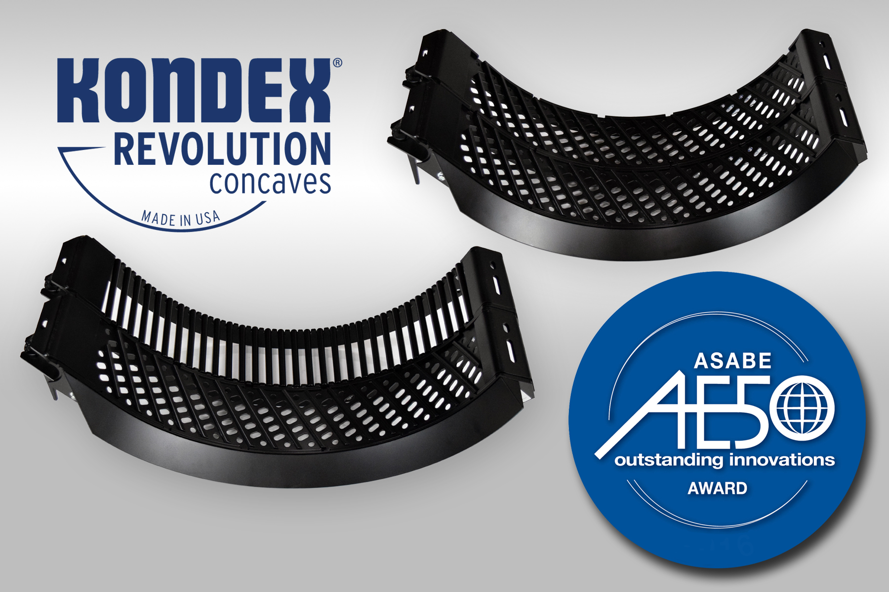 Kondex Revolution concaves and AE50 Award logo